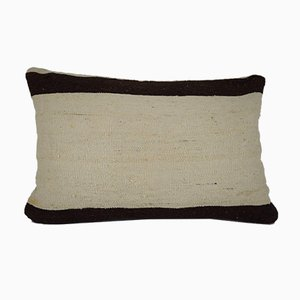 Handmade Organic Striped Turkish Lumbar Kilim Pillow Cover from Vintage Pillow Store Contemporary