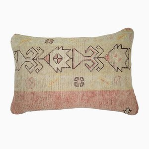 Turkish Embroidered Textured Oushak Rug Pillow Cover from Vintage Pillow Store Contemporary