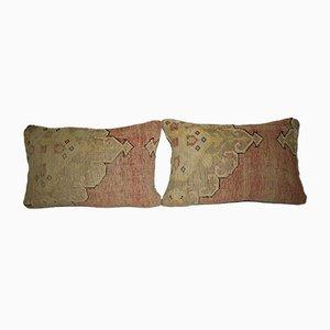 Fundas de cojín Oushak turcas de Vintage Pillow Store Contemporary. Juego de 2