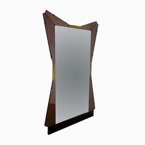 Espejo Mid-Century grande de Cristal Art, años 50