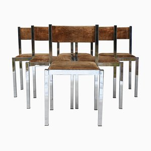 Vintage Chrome Dining Chairs from Cidue, 1970s, Set of 6