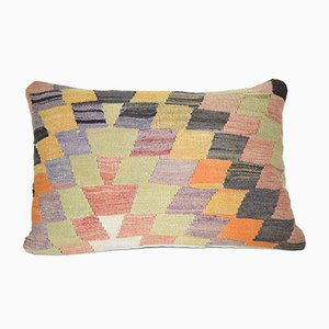 Vintage Geometric Lumbar Kilim Pillow Cover from Vintage Pillow Store Contemporary