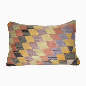 Handwoven Lumbar Kilim Pillow Cover from Vintage Pillow Store Contemporary