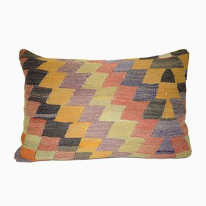 Geometrical Turkish Lumbar Pillow Cover from Vintage Pillow Store Contemporary