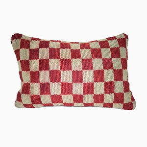 Turkish Geometrical Lumbar Kilim Pillow Cover from Vintage Pillow Store Contemporary