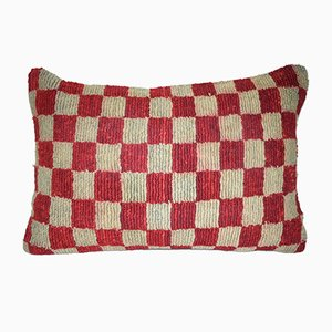 Geometrical Turkish Wool Rug Pillow Cover from Vintage Pillow Store Contemporary