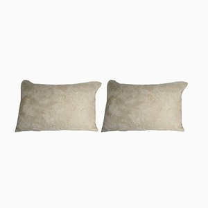 Woven Angora Wool Shag Carpet Pillow Covers from Vintage Pillow Store Contemporary, Set of 2