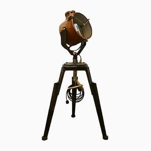 Lámpara de mesa industrial trípode ajustable, años 20