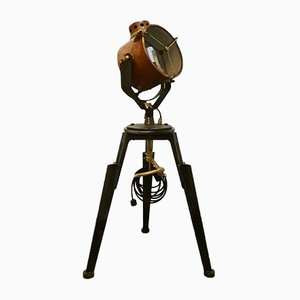 Lampe de Bureau Ajustable Industrielle sur Trépied, 1920s