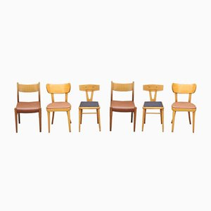 Vintage Assorted Chairs, 1960s, Set of 6