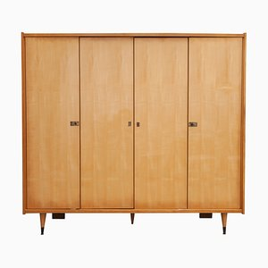 French Satin Wood Wardrobe, 1957