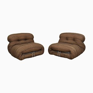 Soriana Lounge Chairs by Afra & Tobia Scarpa for Cassina, 1970s, Set of 2