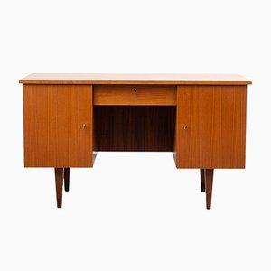 Kubischer Schreibtisch aus Nussholz, 1960er