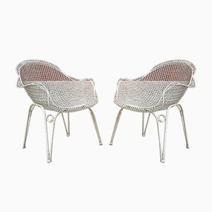 Bent Iron & Wire Mesh Armchairs by Gio Ponti for Atelier Borsani Varedo, 1950s, Set of 2