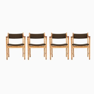 CH50 Chairs by Hans J.Wegner for Carl Hansen & Søn, 1950s, Set of 4