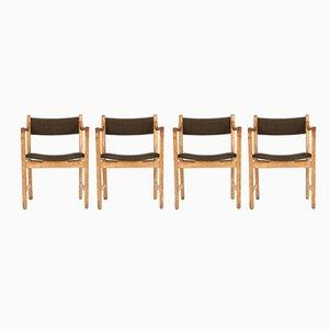 CH50 Stühle von Hans J.Wegner für Carl Hansen & Søn, 1950er, 4er Set