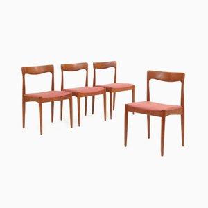 Sedie in teak di Arne Vodder per Vamø, anni '60, set di 4