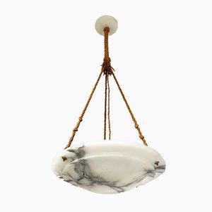Antike Deckenlampe aus Alabaster