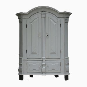 Antique Baroque Grey Cabinet