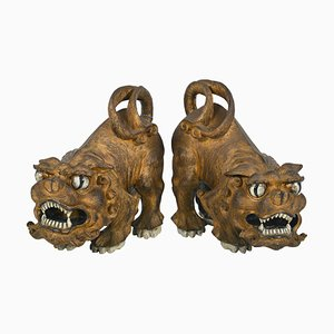 Art Deco Chinese Foo Dogs, 1940s