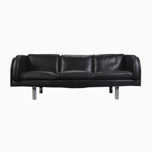 Black Leather Sofa by Jörgen Gammelgaard for Erik Jørgensen, 1970s