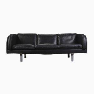 Black Leather Sofa by Jörgen Gammelgaard for Erik Jørgensen, 1970s