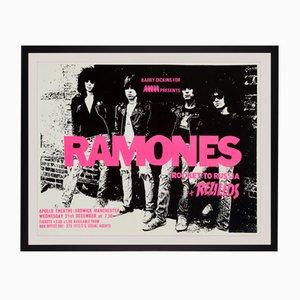 Poster di un concerto dei Ramones, anni '70