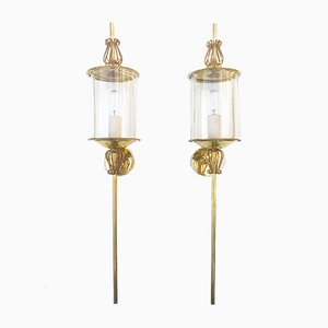 Brass Sconces from Lunel, 1960s, Set of 2