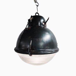 Lámpara industrial de vidrio, años 30