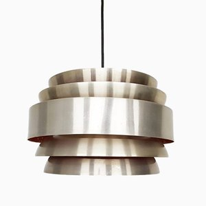 Aluminum Danish Pendant Light, 1960s