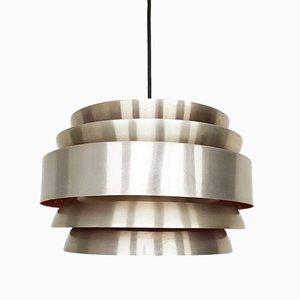 Lampe à Suspension en Aluminium, Danemark, 1960s