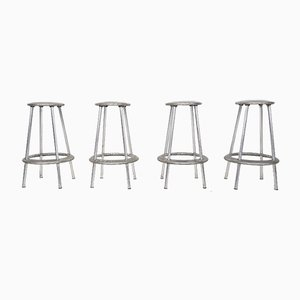 Luna Aluminum Bar Stools by Amos Marchant and Lyndon Anderson for Allermuir, Set of 4