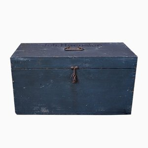 Antique Wooden Trunk, 1920s