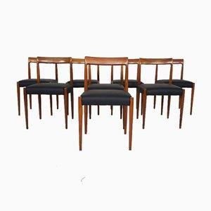 Chaises de Salle à Manger en Cuir de Lübke, Allemagne, 1960s, Set de 8