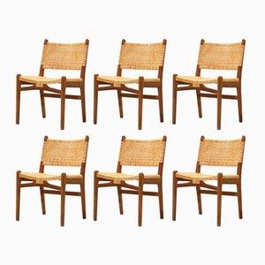Mod. CH 31 Stühle von Hans J. Wegner für Carl Hansen & Søn, 1960er, 6er Set
