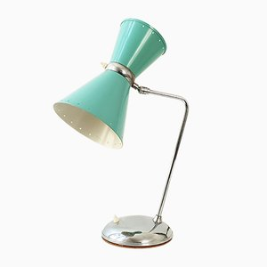 Mid-Century French Steel Diabolo Table Lamp, 1950s