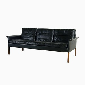 Danish Leather and Rosewood CS500 3-Seat Sofa by Hans Olsen for CS Mobelfabrik, 1960s
