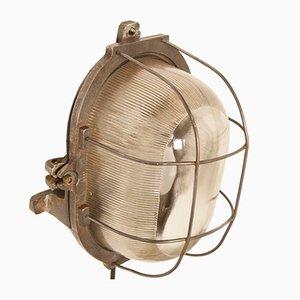 Lámpara de pared ovalada, años 50