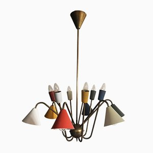 Italian Atomic Chandelier with 12 Lights, 1950s