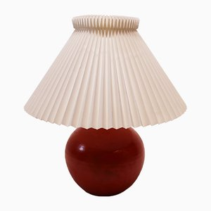 Ceramic Orange Glaze Table Lamp by Herman A. Kähler, 1950s