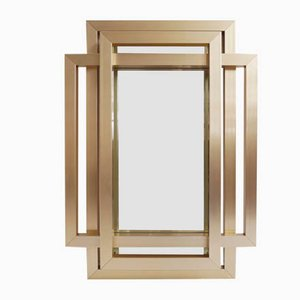 Brass Mirror by Jean Philippe, 1970s