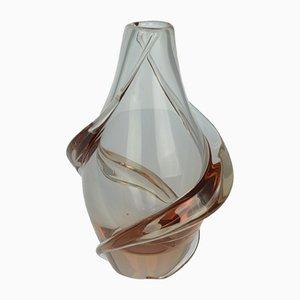 Jarrón Mid-Century de vidrio de neodimio de F. Zemek para Zelezny Brod, años 60