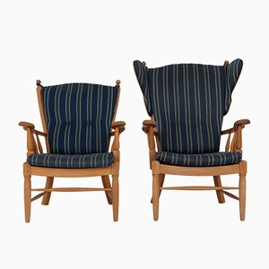 Danish Oak Chairs, 1960s, Set of 2