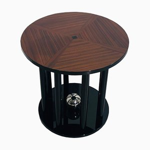 Art Deco Column End Table with Cherry Top