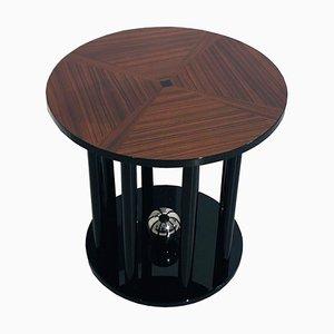 Mesa auxiliar Art Déco con tablero de cerezo