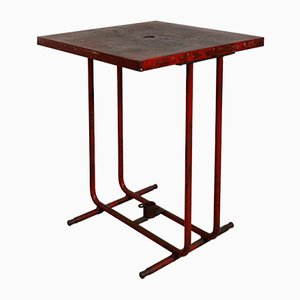 French Metal & Wrought Iron Bistro Table from Tolix, 1950s