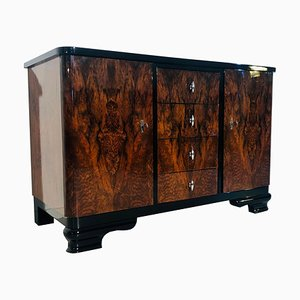 Art Deco Walnut Burl Commode, 1930s