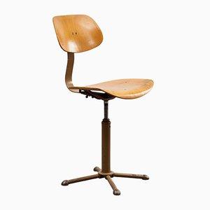 Sedia da scrivania industriale di Drabert, anni '60