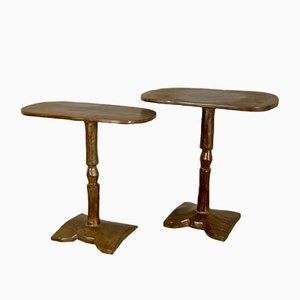 Tables d'Appoint Africaines Vintage, 1950s, Set de 2