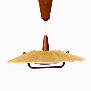 Deckenlampe aus Teak von Temde, 1960er
